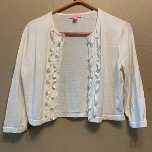 Lilly Pulitzer White Cardigan 🤍 Size Small